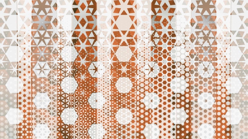Moving Shapes Morphing Mosaic Elegant Motion Background. Computer generated gradient solids. Perfect to use with music, backgrounds, transition and titles.
