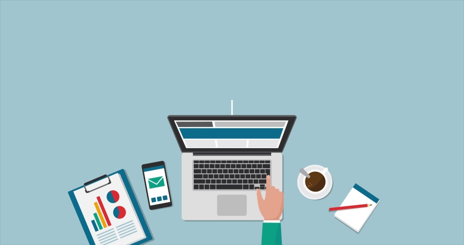People with different skills connecting together online and working on the same project, remote working and freelancing concept Royalty-Free Stock Footage #1055226626