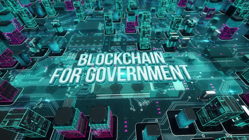Blockchain for Government with digital technology hitech concept | Shutterstock HD Video #1055228234