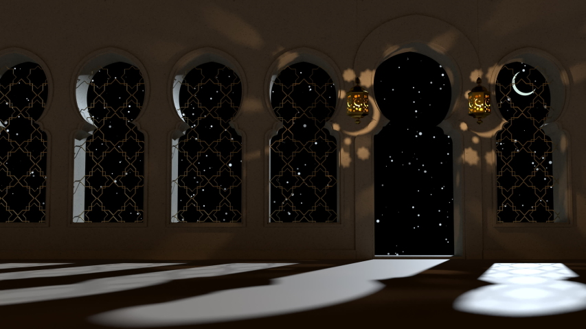 3d render mosque, Muslim temple. Ramadan Kareem Islamic holy month