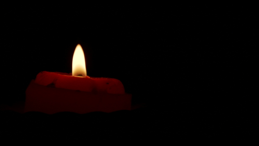 Mouth Blowing Out Red Candle Closeup Macro Slow motion | Shutterstock HD Video #1055232983