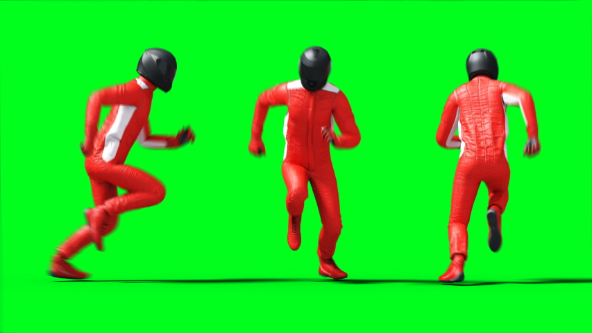 Racer car animation. Phisical motion blur. Realistic green screen 4k animation.   Shutterstock HD Video #1055244479