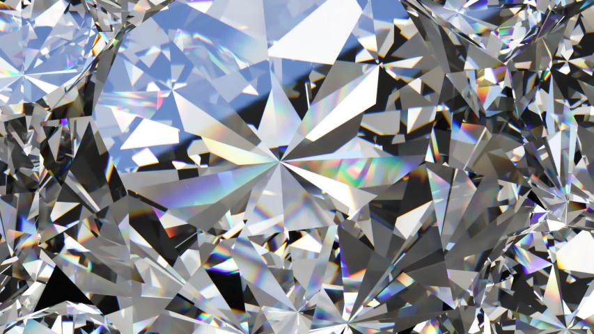 Beautiful sparkling diamond. Kaleidoscope, rotating background.   Shutterstock HD Video #1055245151