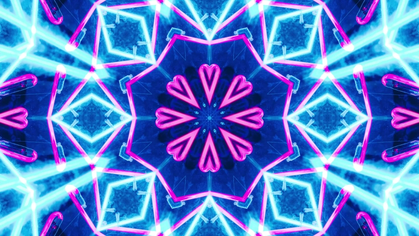 Abstract Kaleidoscope Background. Motion Graphics  Pattern. 4K Fractal Animation Footage | Shutterstock HD Video #1055267003