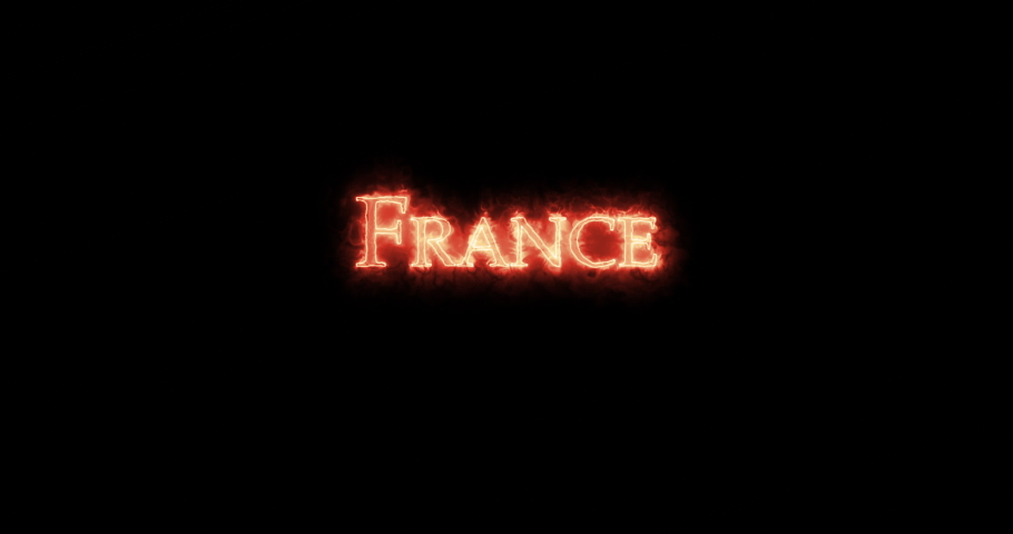 France written with fire. Loop   Shutterstock HD Video #1055278628