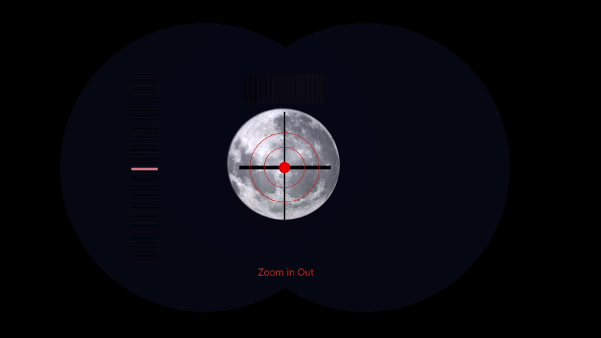 Moon viewing with digital binoculars. 3d animation | Shutterstock HD Video #1055296046