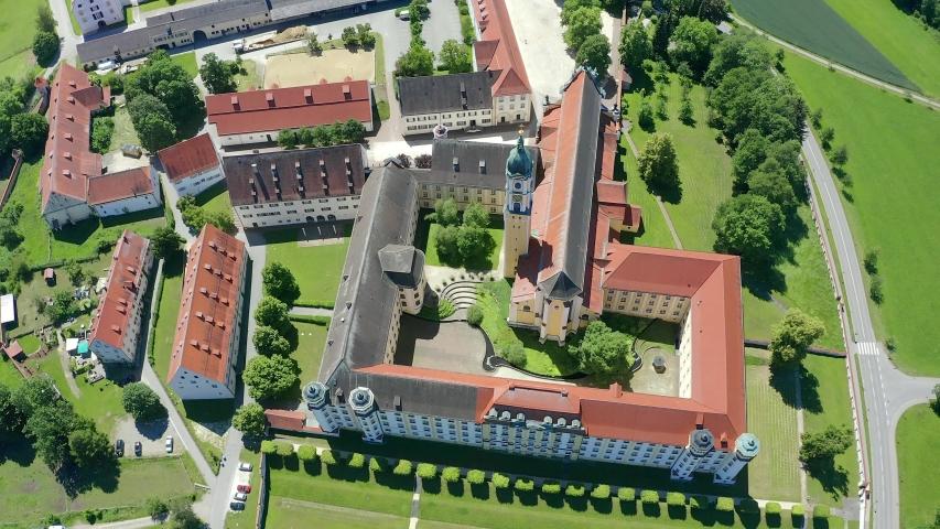 View of Ochsenhausen Monastery, Baden Wuerttemberg, Germany   Shutterstock HD Video #1055299028