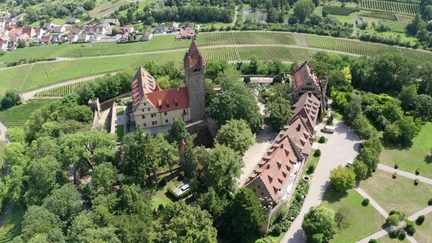 Stocksberg Castle, Stockheim, Brackenheim, Baden-Wuerttemberg, Germany   Shutterstock HD Video #1055299037