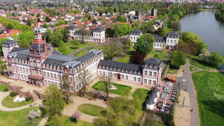 Philippsruhe Castle in Hanau, Hesse, Germany   Shutterstock HD Video #1055299061