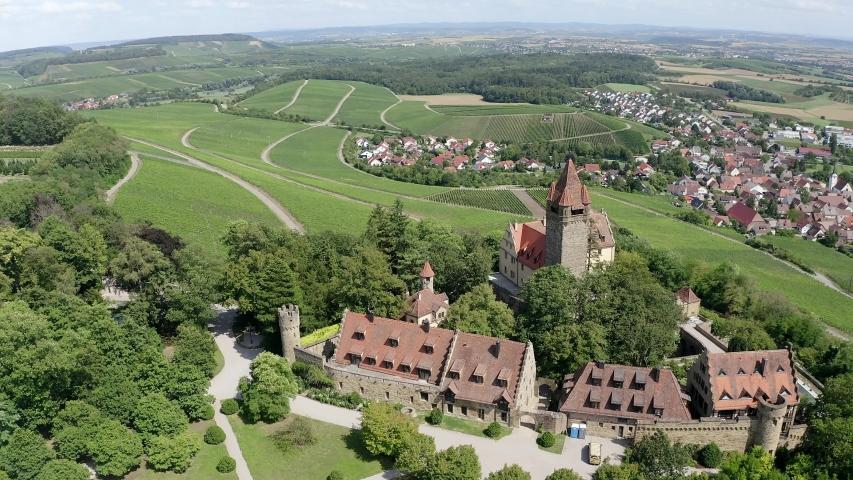 Stocksberg Castle, Stockheim, Brackenheim, Baden-Wuerttemberg, Germany   Shutterstock HD Video #1055299085