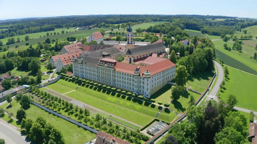 View of Ochsenhausen Monastery, Baden Wuerttemberg, Germany   Shutterstock HD Video #1055299097
