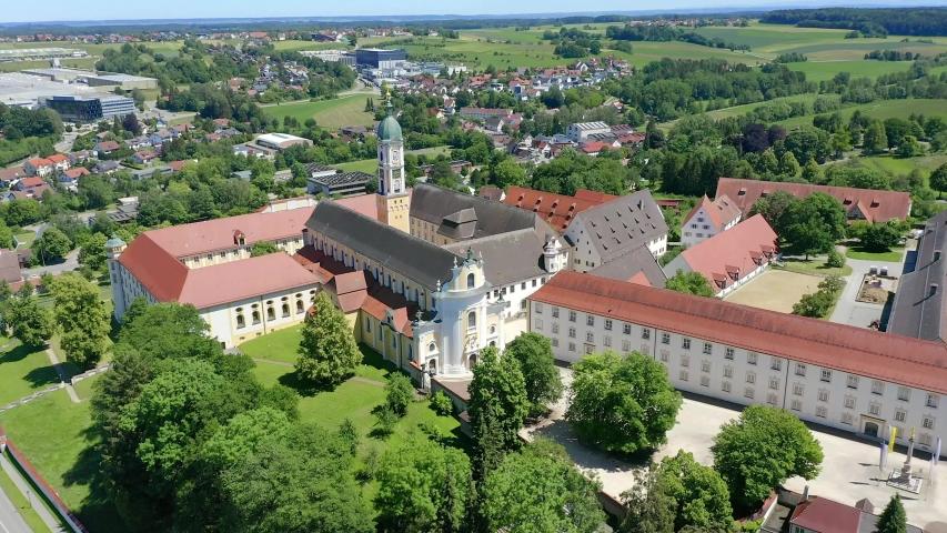 View of Ochsenhausen Monastery, Baden Wuerttemberg, Germany   Shutterstock HD Video #1055299100
