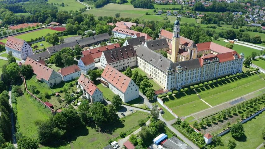 View of Ochsenhausen Monastery, Baden Wuerttemberg, Germany   Shutterstock HD Video #1055299109
