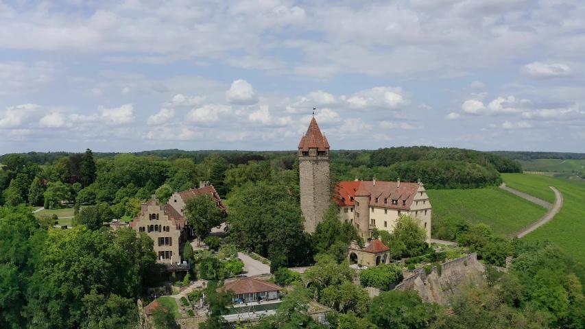 Stocksberg Castle, Stockheim, Brackenheim, Baden-Wuerttemberg, Germany   Shutterstock HD Video #1055299112