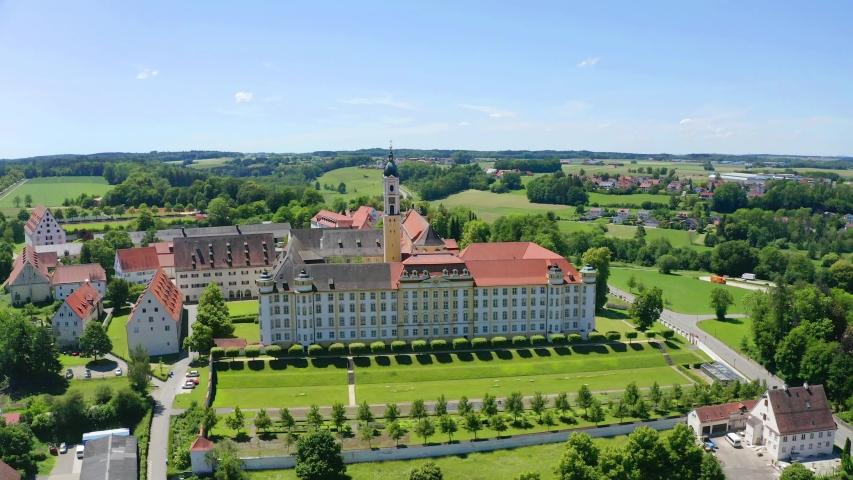 View of Ochsenhausen Monastery, Baden Wuerttemberg, Germany   Shutterstock HD Video #1055299115