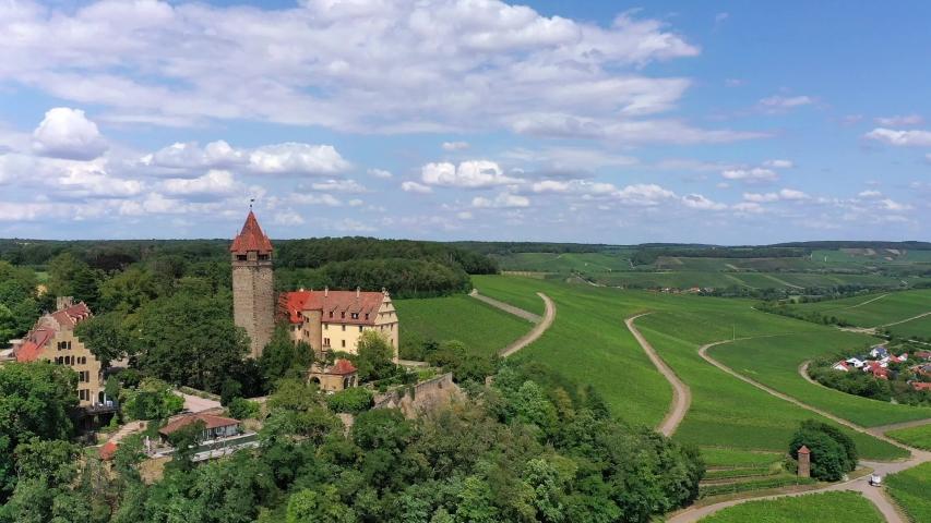 Stocksberg Castle, Stockheim, Brackenheim, Baden-Wuerttemberg, Germany   Shutterstock HD Video #1055299127