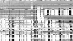 VHS TV Noise Footage, black and white, glitchy analog vintage signal with bad interference, static noise background, overlay ready