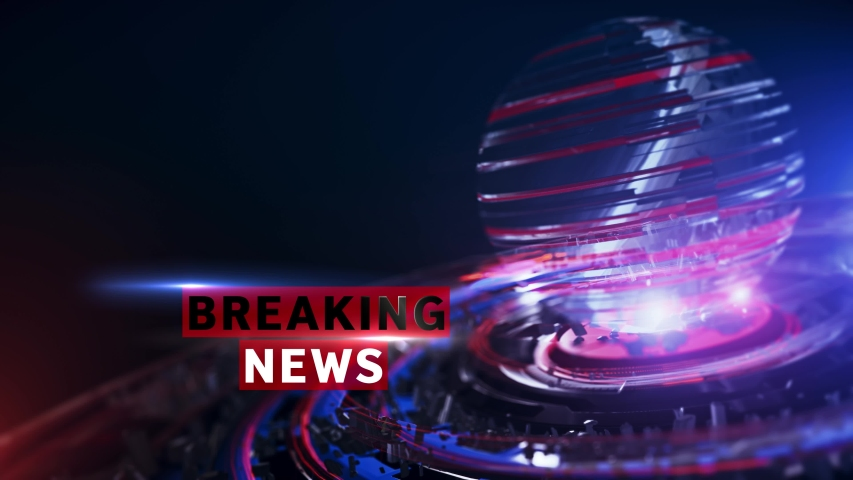 BREAKING NEWS Background Looped,  digital world breaking news Studio Background for news report and breaking news on world live report | Shutterstock HD Video #1055338484