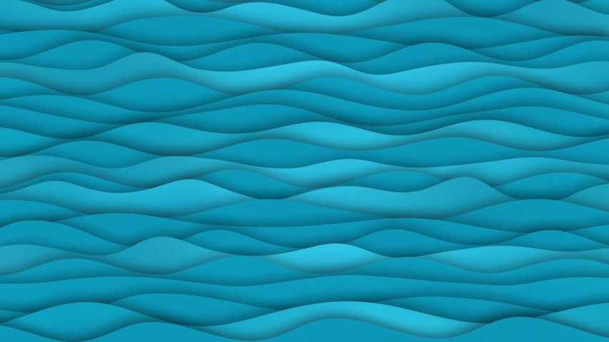 Waves cartoon abstract background animation. Good for intro, titles, opener, etc... Seamless loop. Sweet children animation.