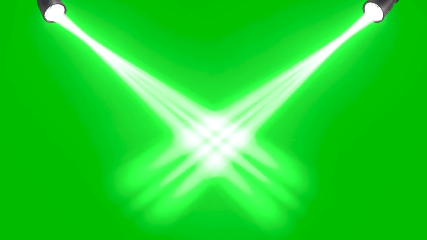 Rays of lights on green screen background animation. Beams light on stage footage HD video. | Shutterstock HD Video #1055352770