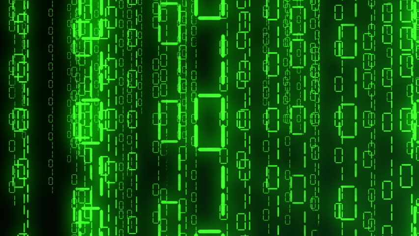 Matrix green binary code streaming down. The camera moves through the falling numbers. . Seamless loop. 4K | Shutterstock HD Video #1055358536
