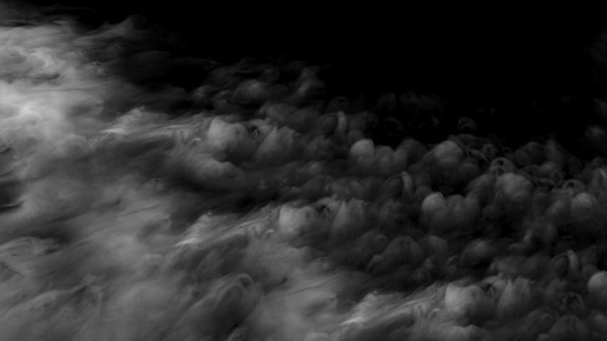 Smoke. Cloud of cold fog in blue light spot on black background. Abstract white smoke in slow motion. Light, white, fog, cloud, abstract, smoke, black, background, 4k, ice smoke cloud. Floating fog.   Shutterstock HD Video #1055359166