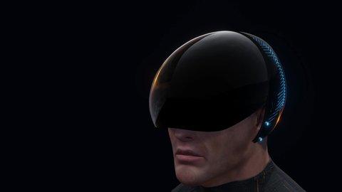 Get Cyberpunk Biker Helmet Gif