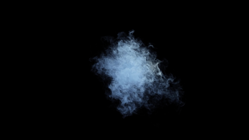 VFX animation of dry ice smoke clouds fog on green background. Blue cloudy smoke  | Shutterstock HD Video #1055360867