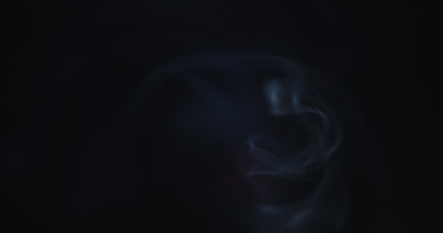 Atmospheric smoke 4K Fog effect. Smoke in slow motion on black background. White smoke slowly floating through space against black background | Shutterstock HD Video #1055389940