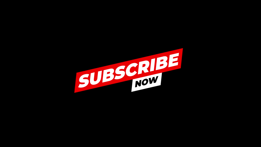 Subscribe now. Red button subscribes to channel, blog. Marketing animation motion graphic video.4K Footage with Alpha Channel Royalty-Free Stock Footage #1055395439