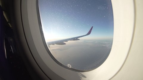 Airplane Window View Stock Video Footage 4k And Hd Video Clips