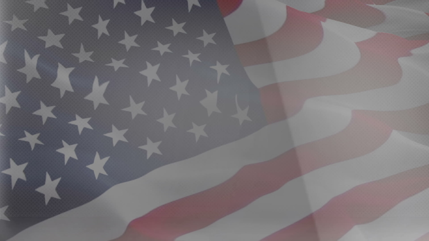 United States of America waving flag video gradient background. US American Flag Blowing Close Up. USA flag for Independence Day, 4th of july US American Flag Waving 1080p Full HD footage. USA America | Shutterstock HD Video #1055398796