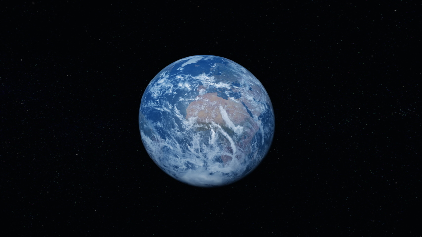 Photo realistic 3D earth. Earth from space. Rotating planet earth. Blue planet. [ProRes - UHD 4K]