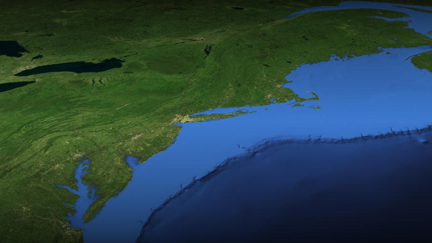 Loupe finds New york city on the map 3d | Shutterstock HD Video #1055415335