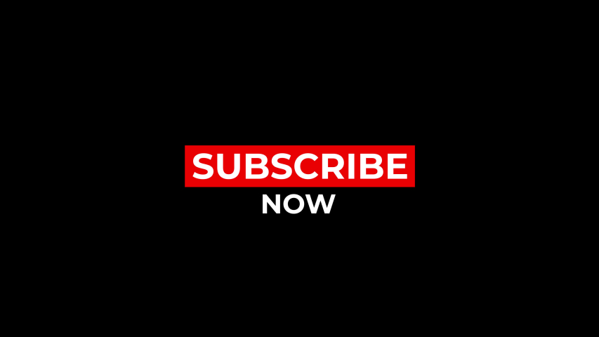 Subscribe now, Red button subscribe to channel, blog. Social media background. Marketing.animation motion graphic video. Promo banner, badge, sticker.Royalty-free Stock 4K Footage with Alpha Channel