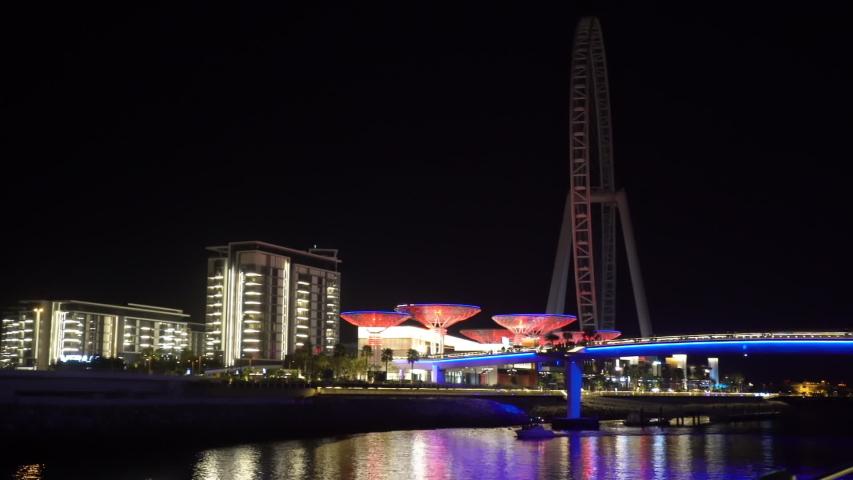 Ferris wheel in dubai on bluewaters | Shutterstock HD Video #1055455457