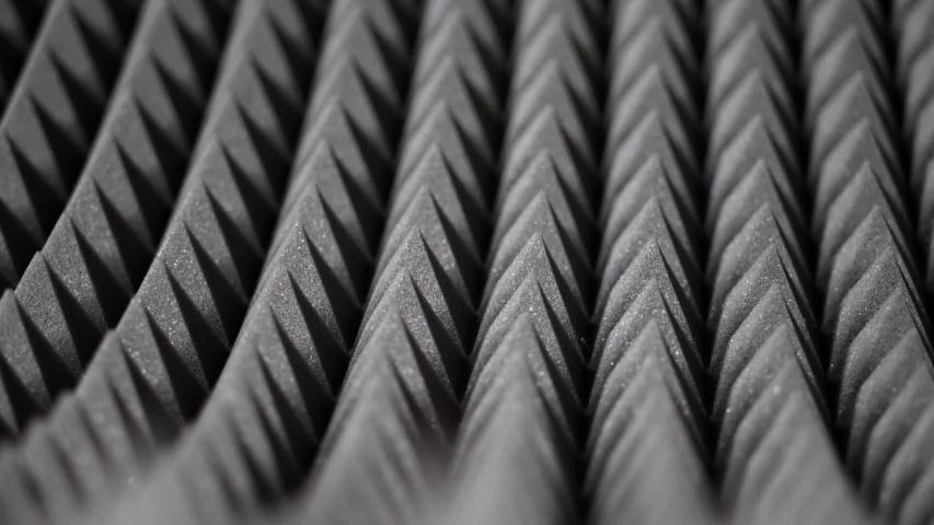 Sound proof acoustic foam padding pyramid closeup   Shutterstock HD Video #1055487983