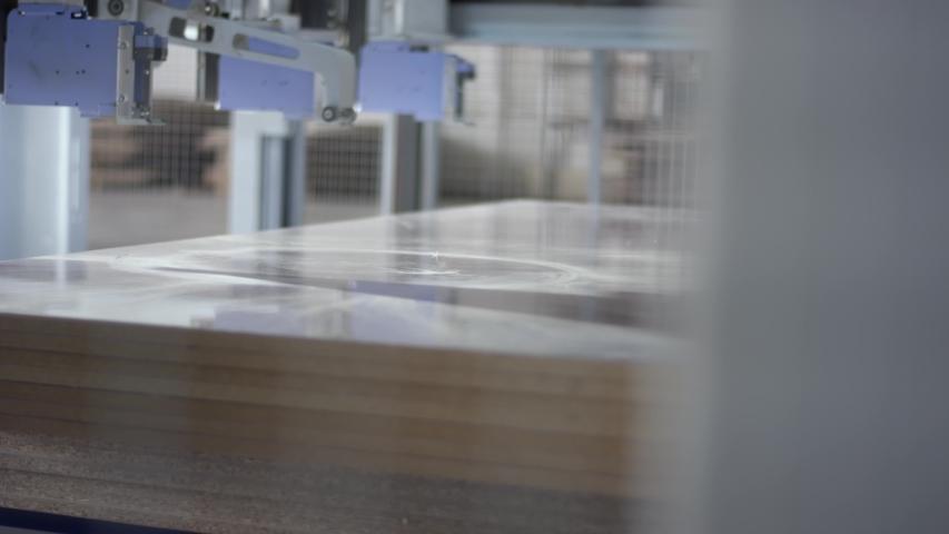 Furniture manufacturing. Furniture parts. Working process | Shutterstock HD Video #1055551151