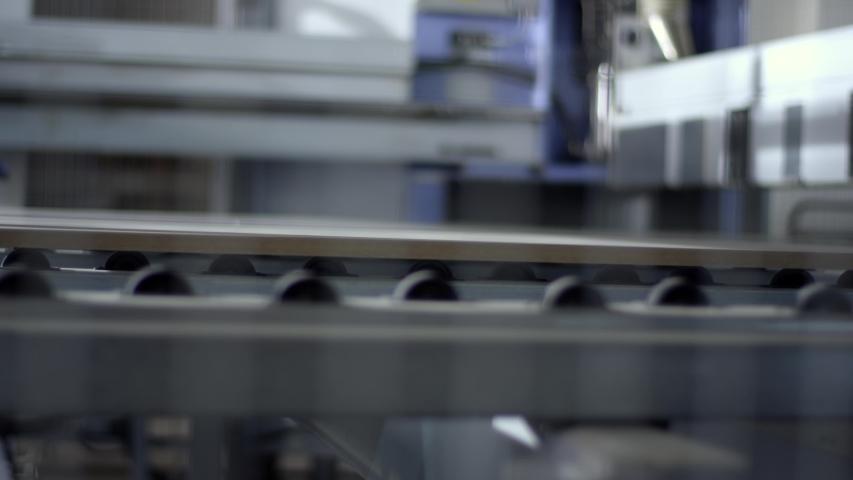 Furniture manufacturing. Furniture parts. Working process | Shutterstock HD Video #1055551154