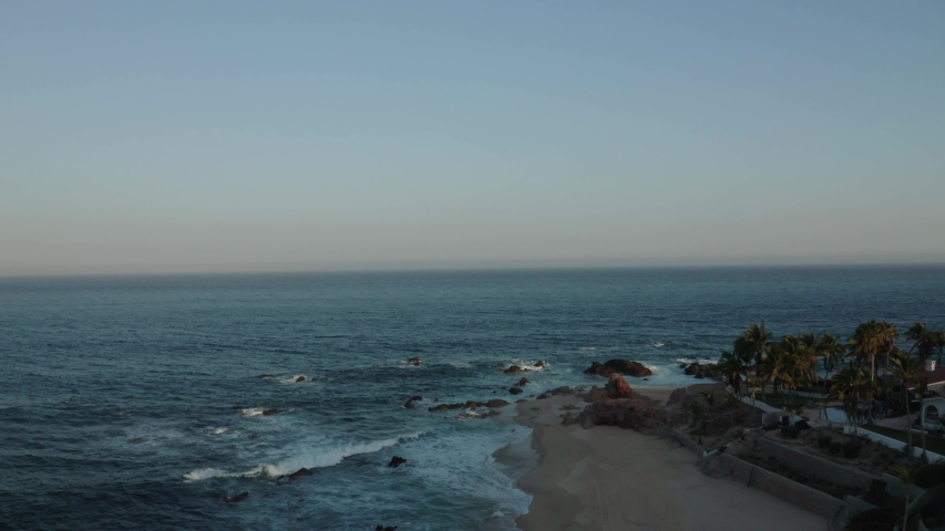 Cabo San Lucas beach dusk aeiral view. Drone footage. Los Cabos | Shutterstock HD Video #1055552420