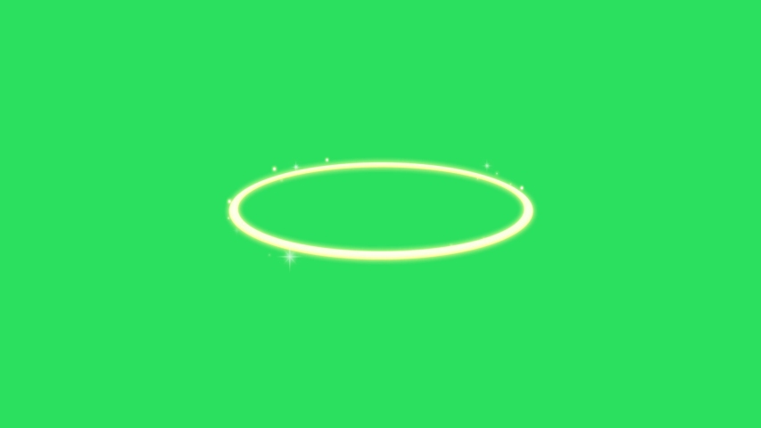 Animation yellow ring on the green background | Shutterstock HD Video #1055554778