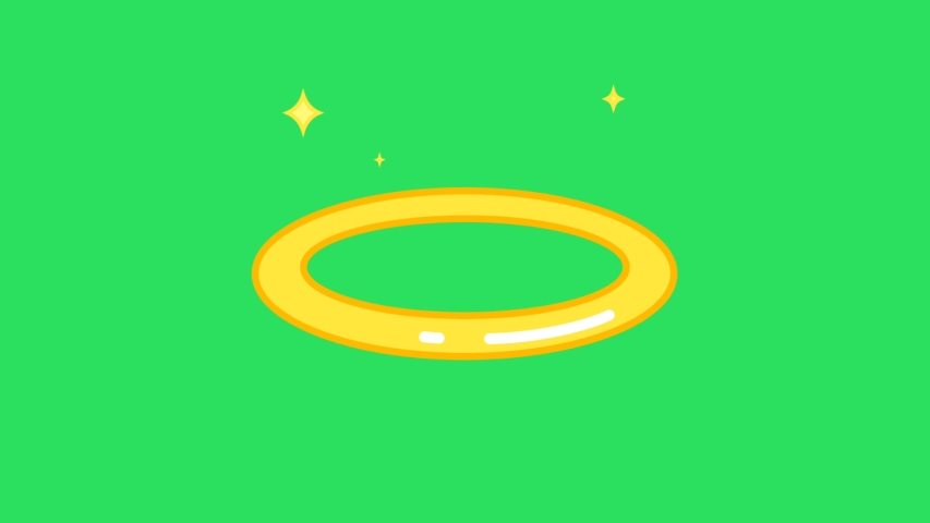 Animation yellow ring on the green background | Shutterstock HD Video #1055554781