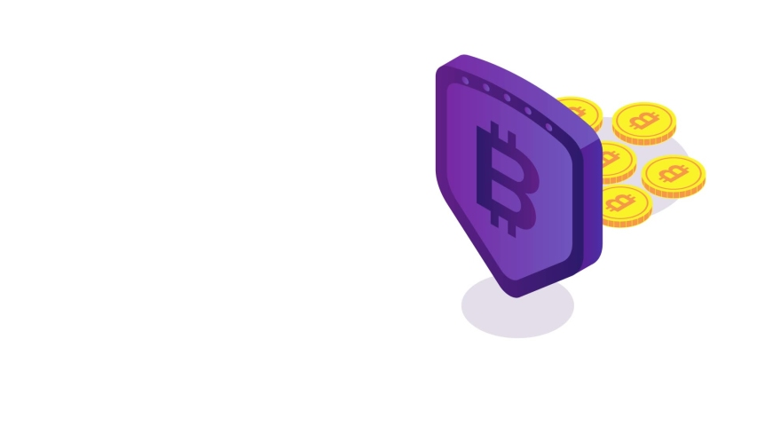 Animation that can be used for bitcoin and finance | Shutterstock HD Video #1055555285