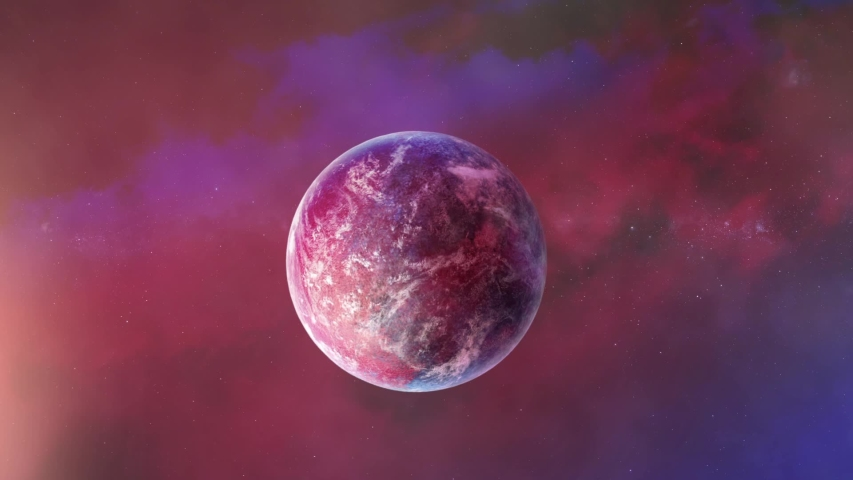 Unknown Planets and space. 3d animation | Shutterstock HD Video #1055555444