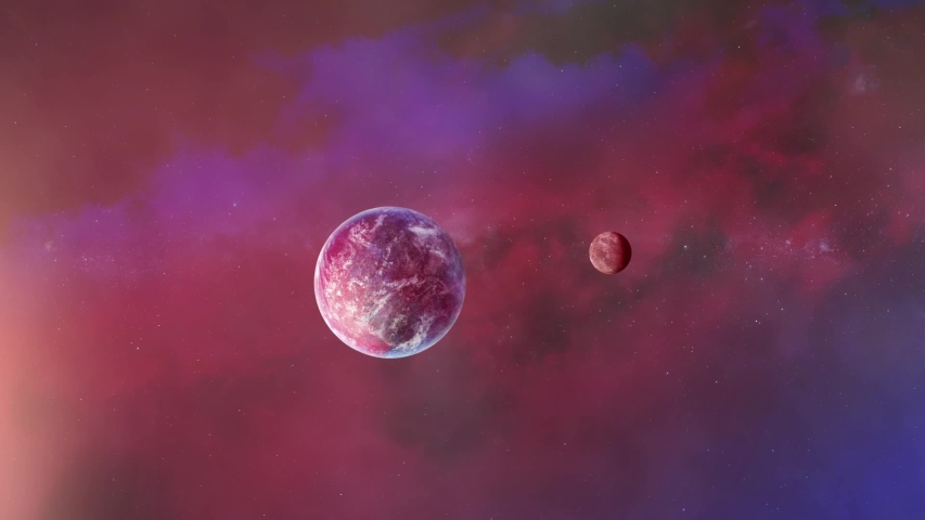 Unknown Planets and space. 3d animation | Shutterstock HD Video #1055555447