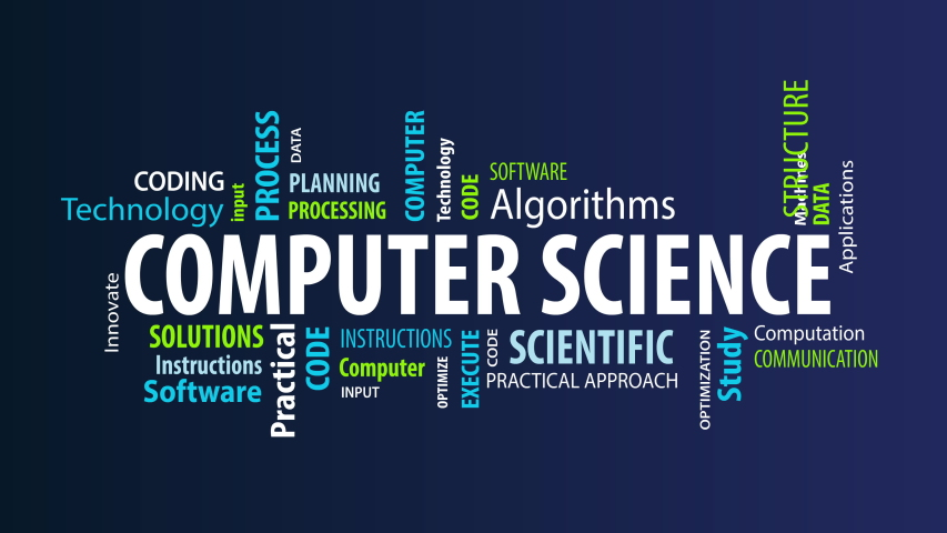 Animated Computer Science Word Cloud | Shutterstock HD Video #1055564414