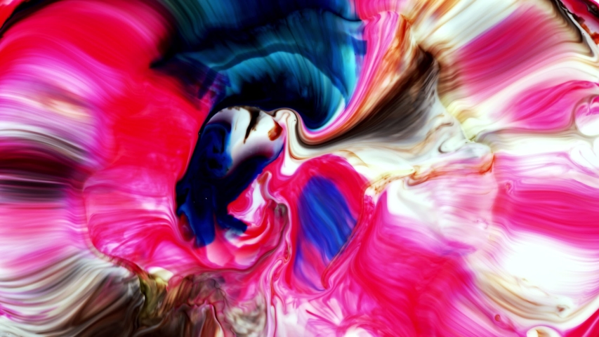 Colorful Food Paint Spread on Liquid | Shutterstock HD Video #1055564978