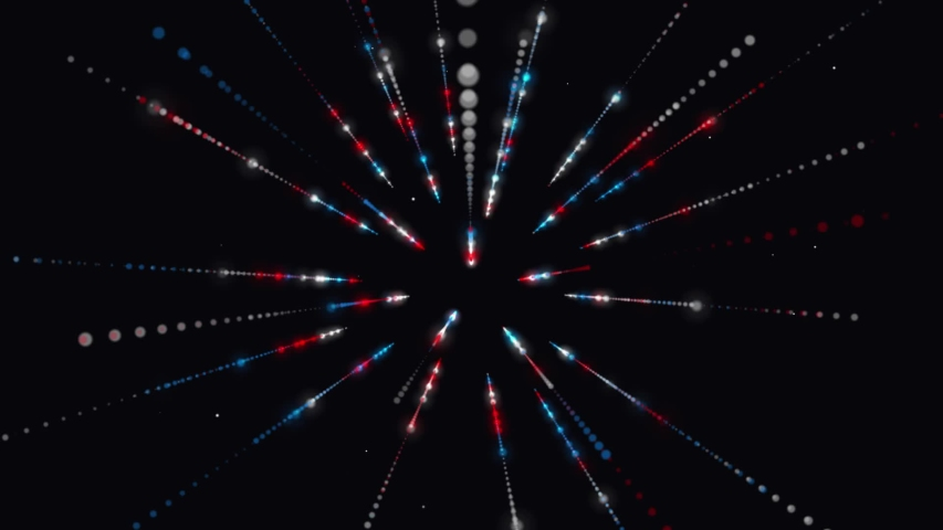 Abstract cosmic background. light speed. neon glowing rays in motion. Seamless loop. Colorful fireworks, beautiful explosion, Big bang. Moving through galaxy and stars.  | Shutterstock HD Video #1055565194