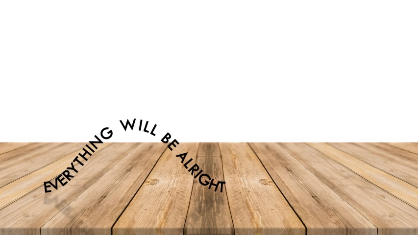 The phrase everything will be fine crawls across the table like a caterpillar | Shutterstock HD Video #1055570171