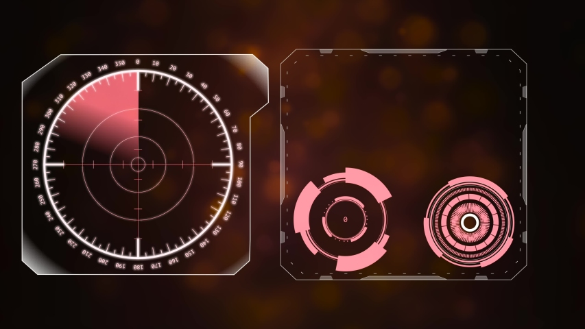 Two frames with active rear sights inside on a dimmed background. | Shutterstock HD Video #1055594573